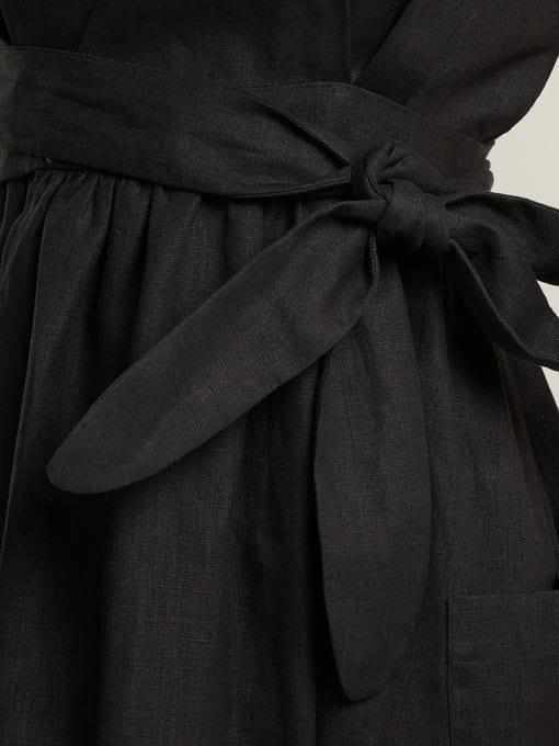 MARA HOFFMAN Ingrid Wrap Black Dress