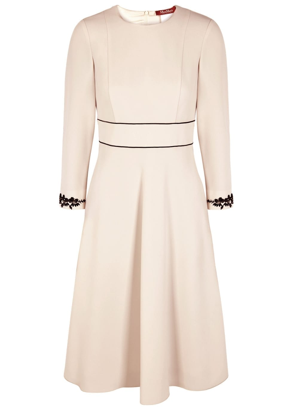 b0fcfe7abbe MAX MARA STUDIO Bardies Bead-embellished Midi Ivory Dress - We ...