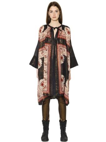 MES DEMOISELLES Lurex Multi / Floral Printed Dress