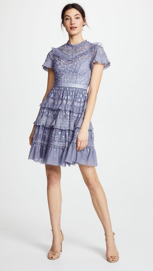 NEEDLE & THREAD Iris Lavender Dress