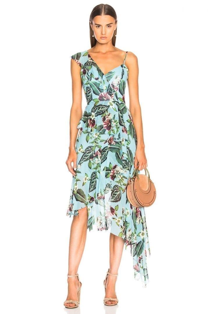 NICHOLAS One Shoulder Frill Mayflower Dress