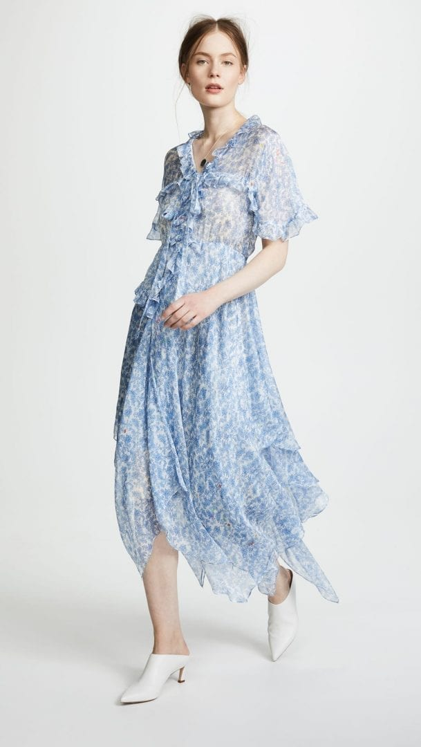 af7d7f9be008 PREEN BY THORNTON BREGAZZI Slip with Lilou Blue Brocade Dress
