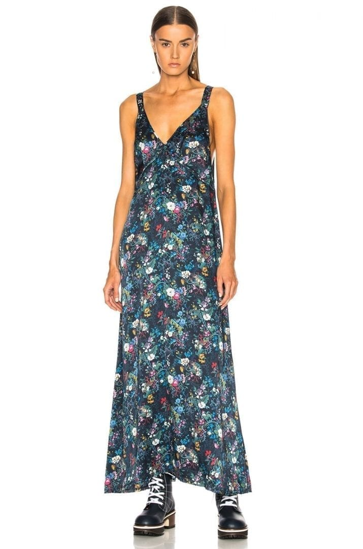 52b75eb245ad R13 Long Slip Navy / Floral Printed Dress - We Select Dresses
