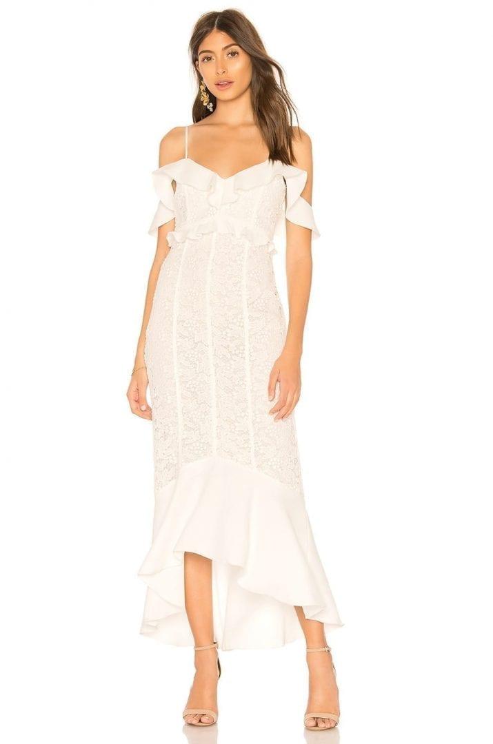 RACHEL ZOE Chloe Ecru Dress - We Select Dresses