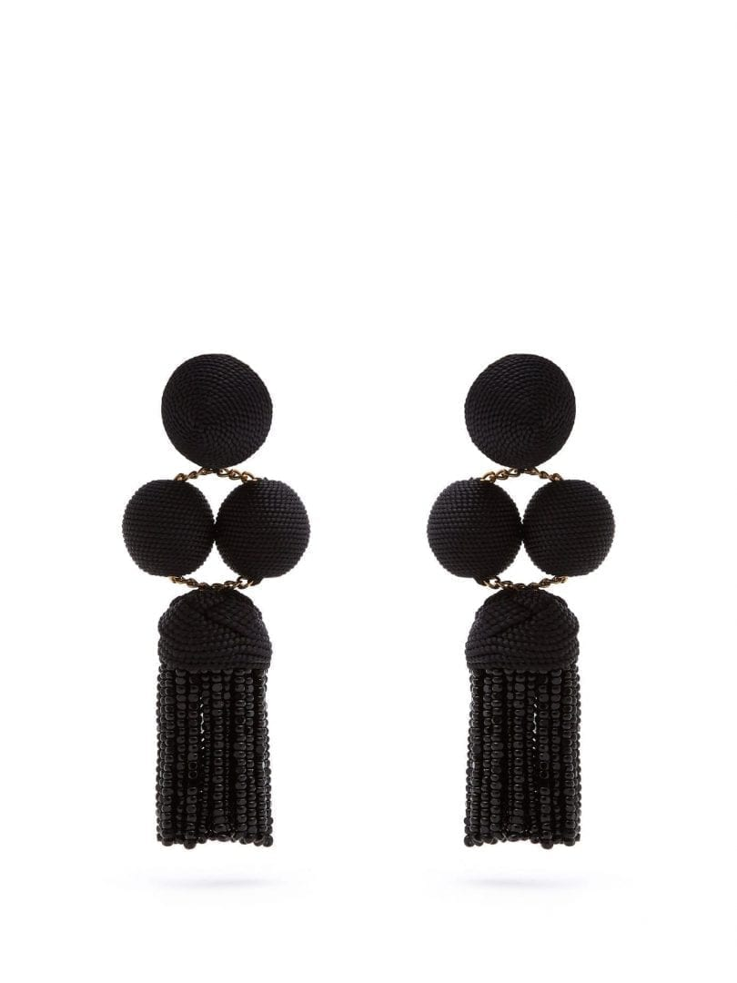 REBECCA DE RAVENEL Christy Drop Clip On Earrings