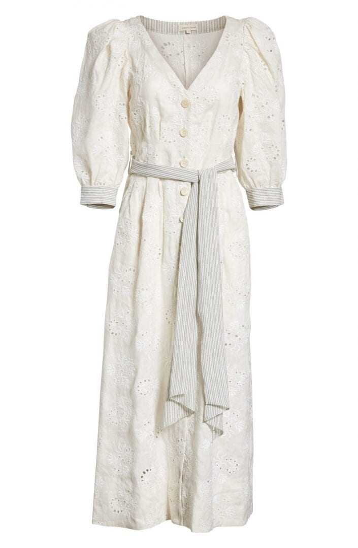 REBECCA TAYLOR Garden Eyelet Midi Vanilla / Milk Dress - We Select ...