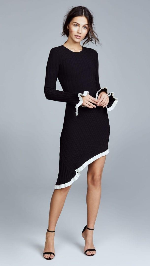 RONNY KOBO Dafne Black / White Dress