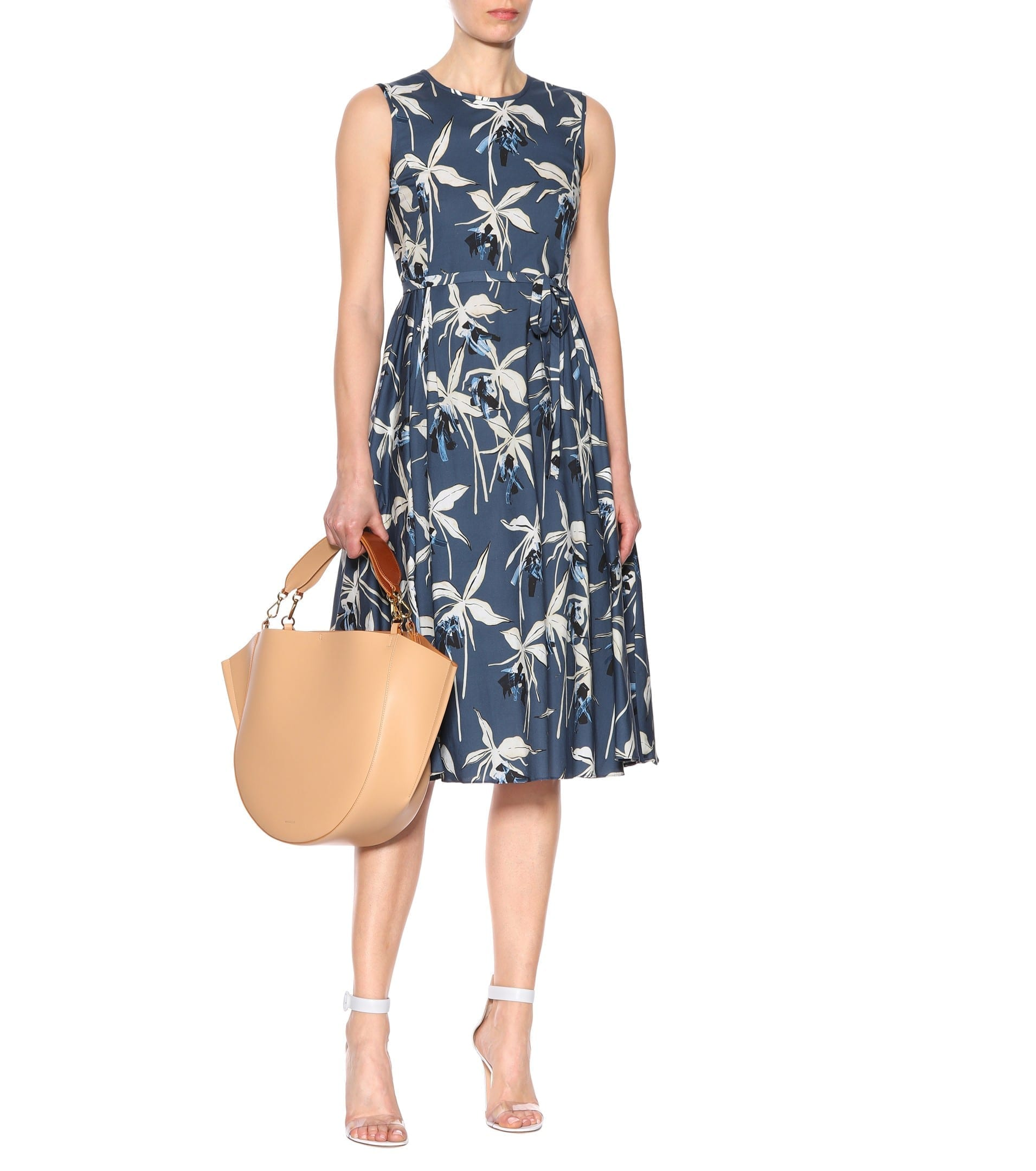 316c404f536 S MAX MARA Dilly Cotton Poplin Blue Dress - We Select Dresses
