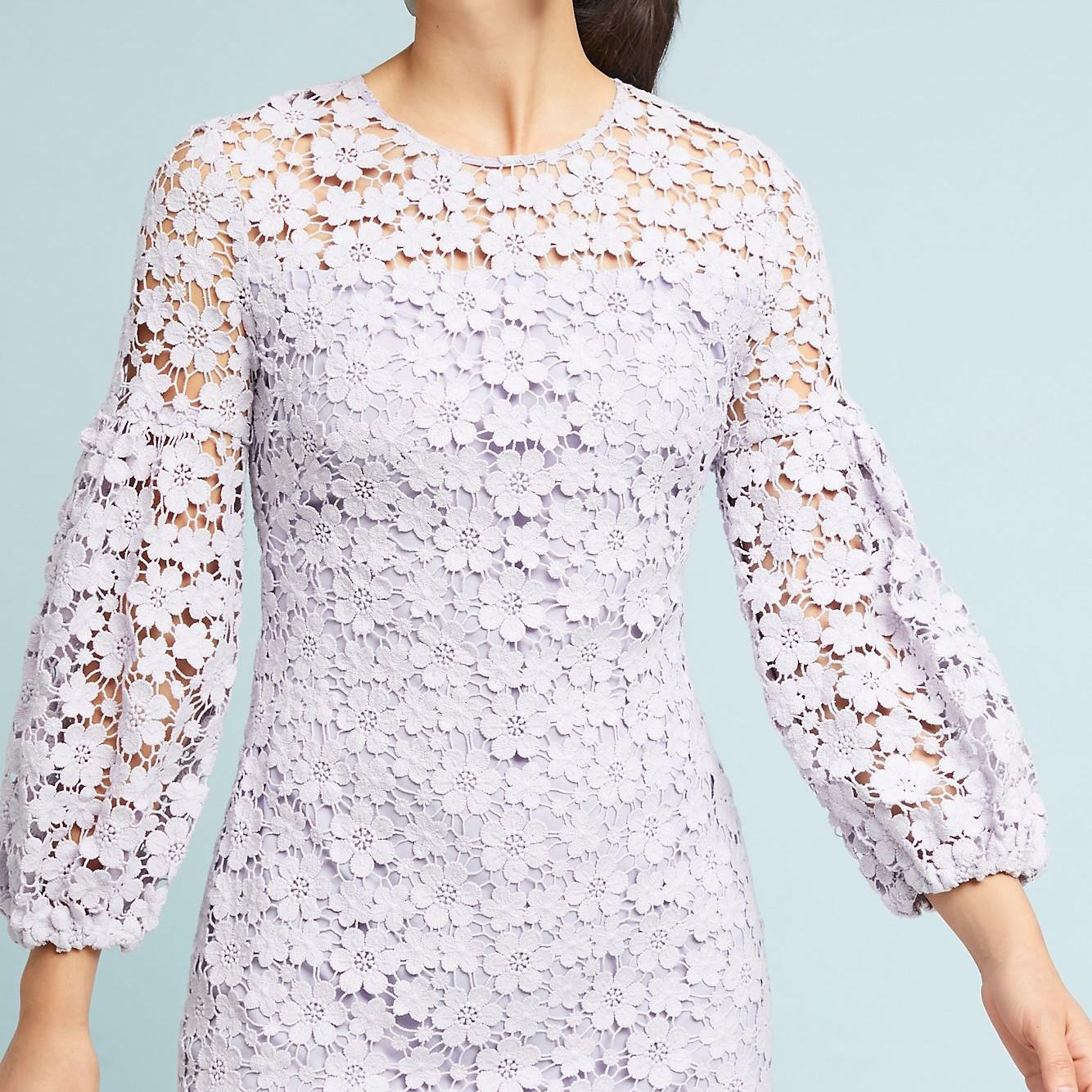 Shoshanna Vina Lace Lavender Dress