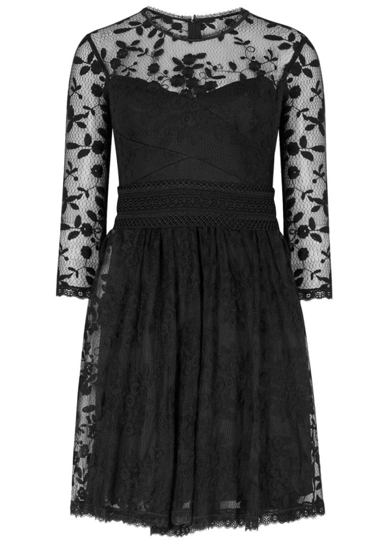 THREE FLOOR Coal Lace Black Dress