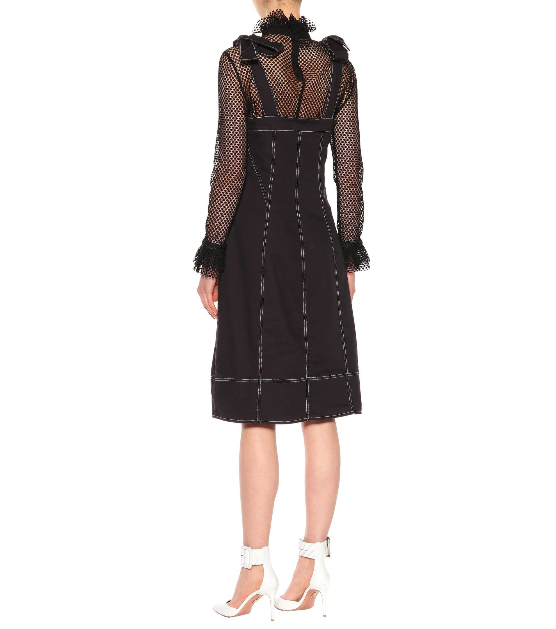 b487ecb0984 ULLA JOHNSON Emory Denim Jet Black Dress - We Select Dresses