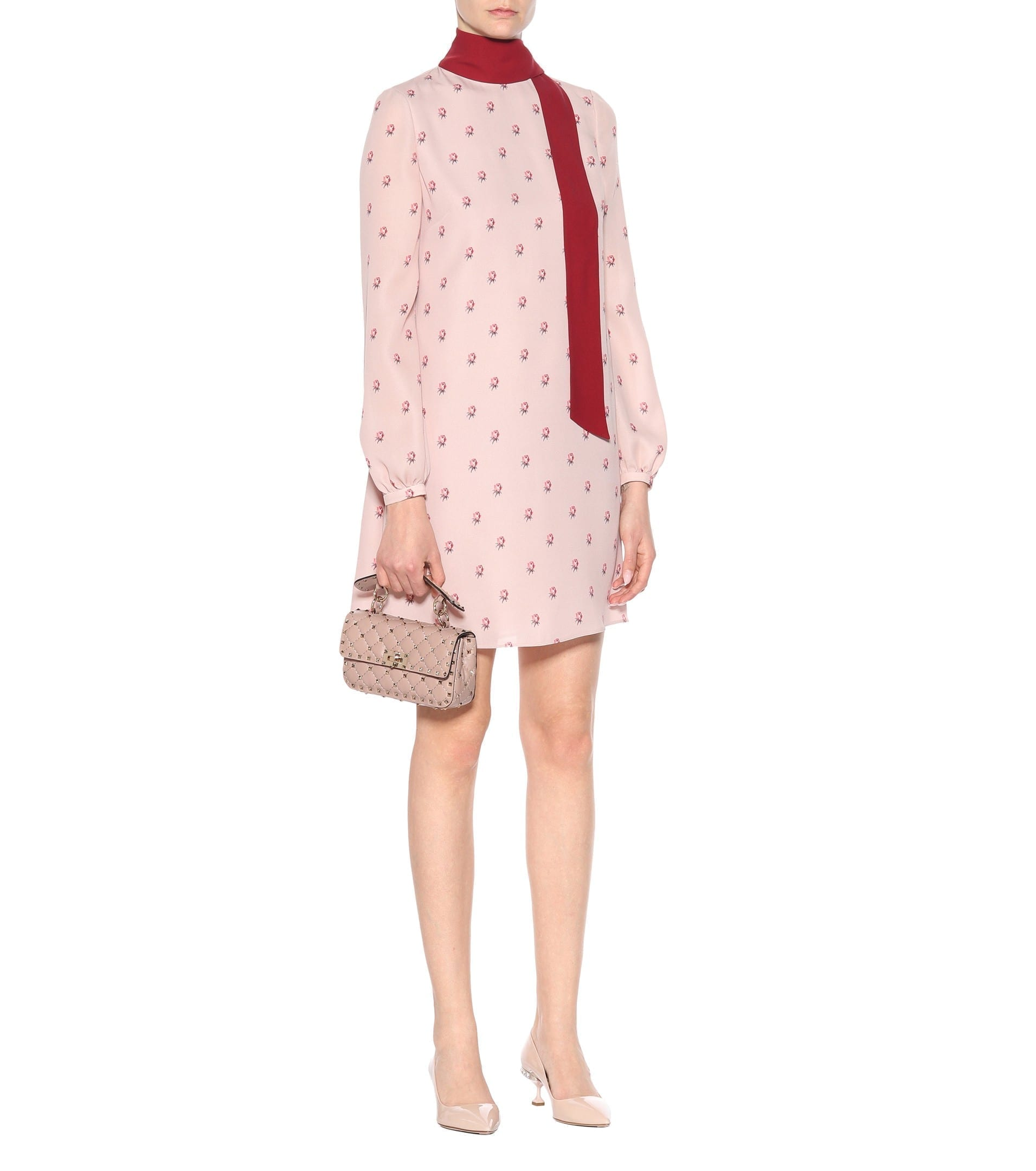 VALENTINO Printed Silk Scarf Poudre Pink Dress