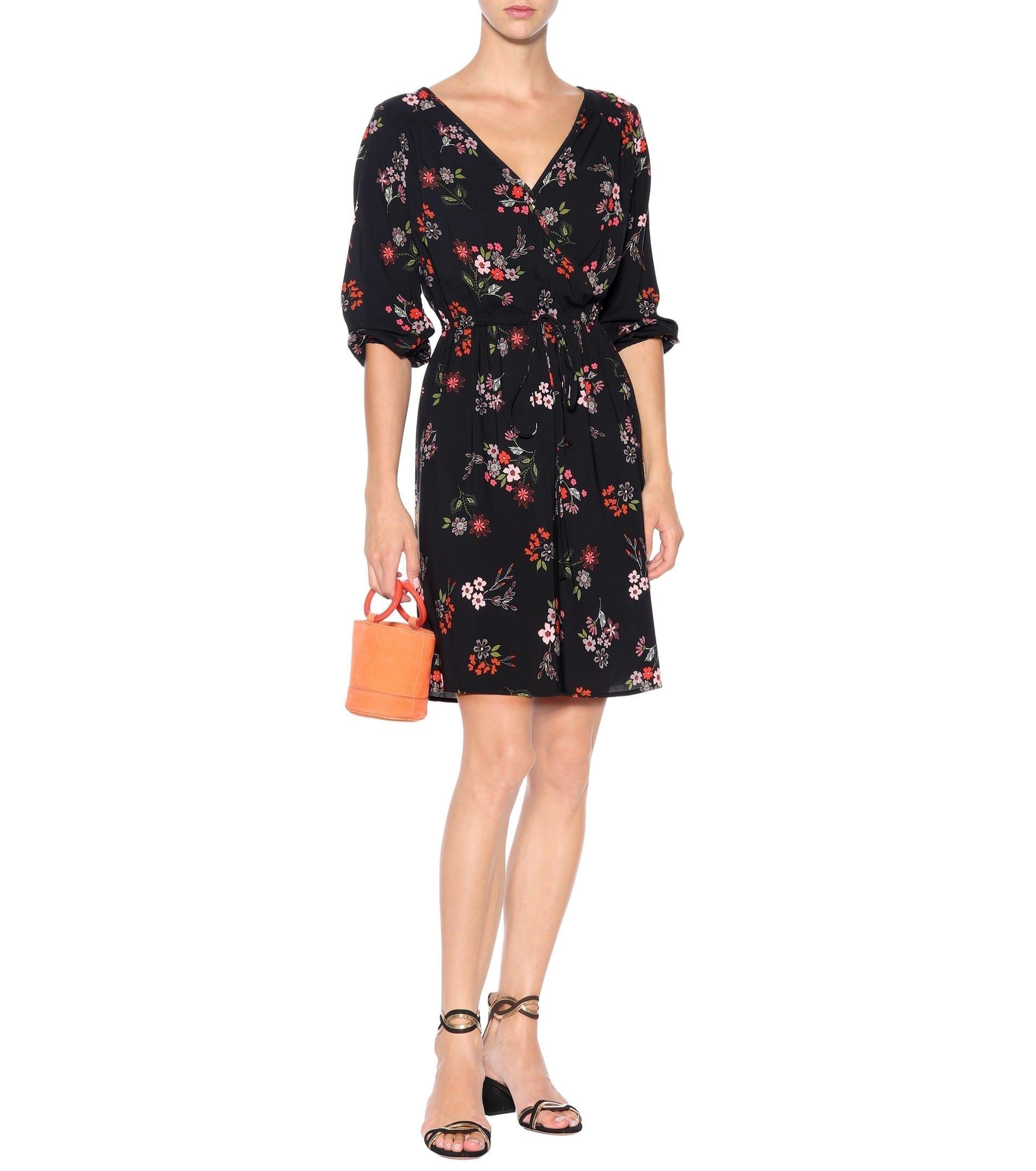 VELVET Wrap Effect Akira / Floral Printed Dress