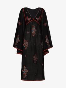 VITA KIN Happy Flowers Midi Black Dress