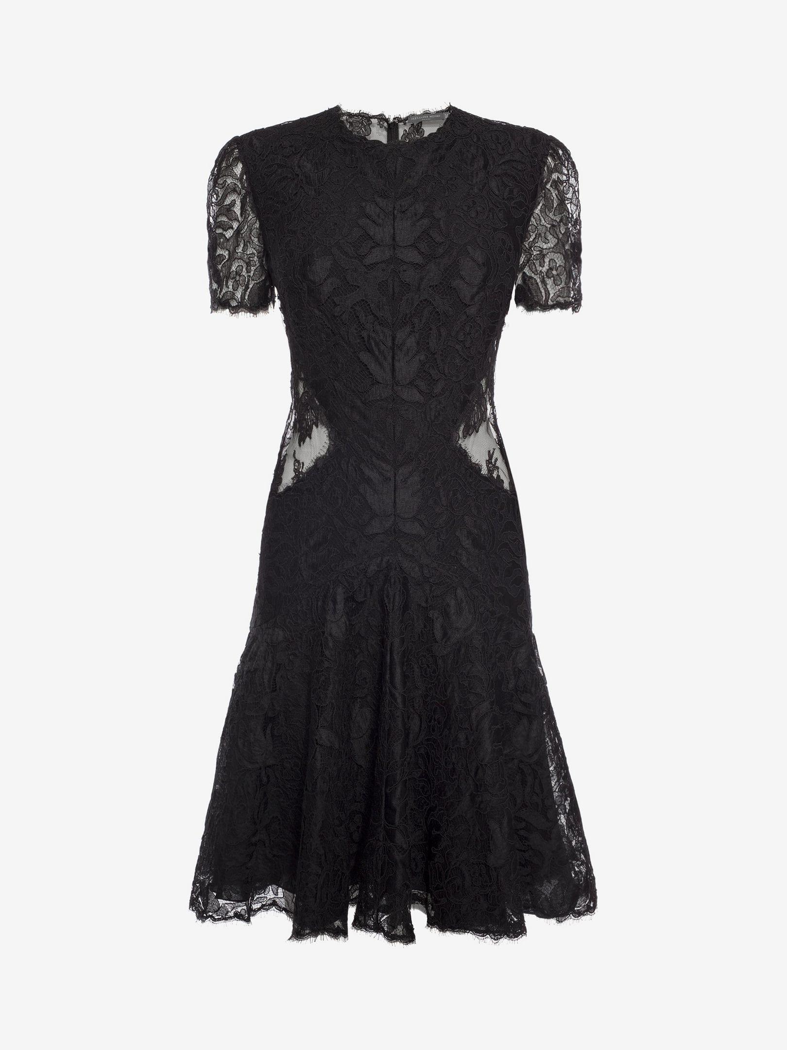 ALEXANDER MCQUEEN Lace Mini Black Dress