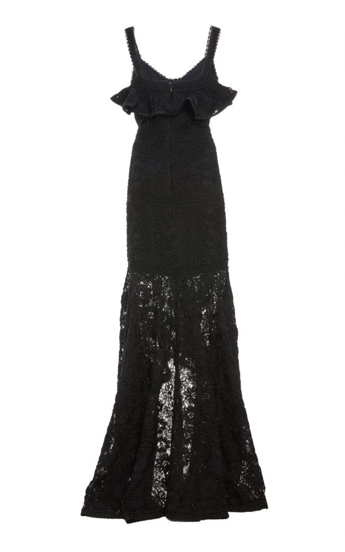 ALEXIS Vicenzo Lace Black Gown - We Select Dresses