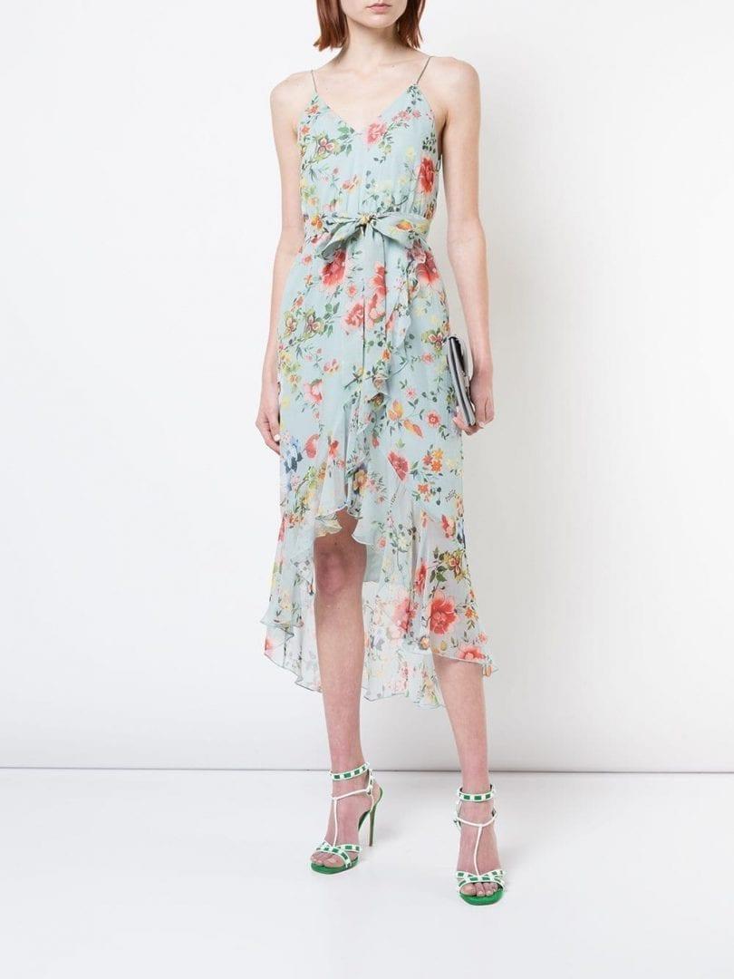 ALICE+OLIVIA Midi Multi / Floral Printed Dress