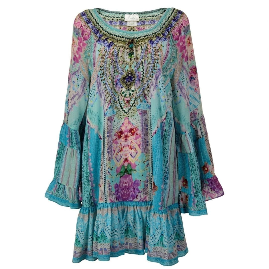 CAMILLA A Line Blue / Pink Dress