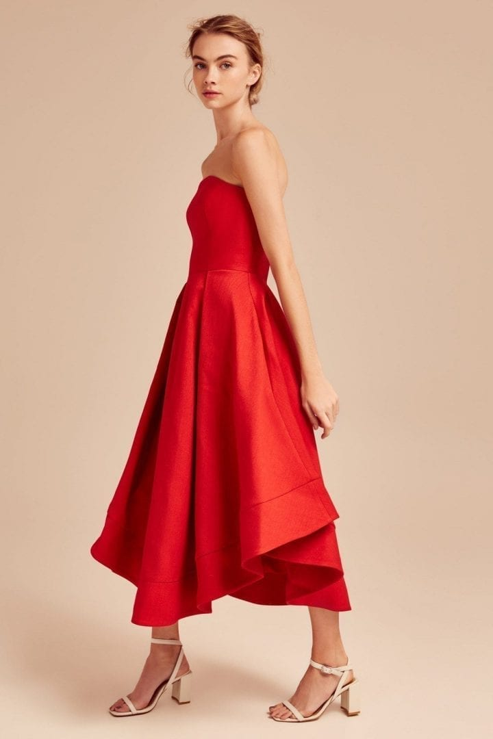 C Meo Collective Entice Making Waves Red Dress