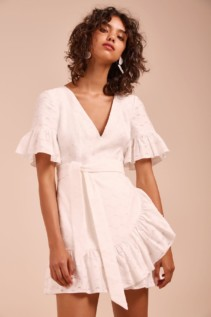 C/MEO COLLECTIVE Magnetise Ivory Dress