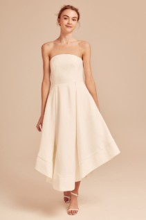 C/MEO COLLECTIVE Making Waves Ivory Dress
