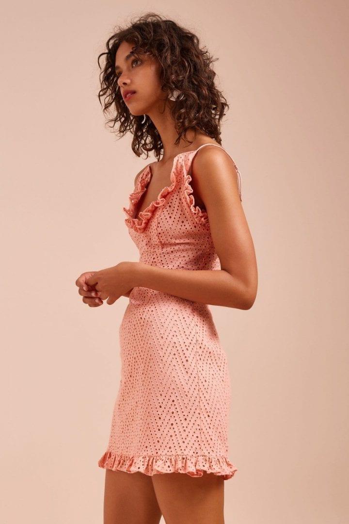 f9fdeddc00a3 C/MEO COLLECTIVE Runaways Short Sleeve Sherbet Dress