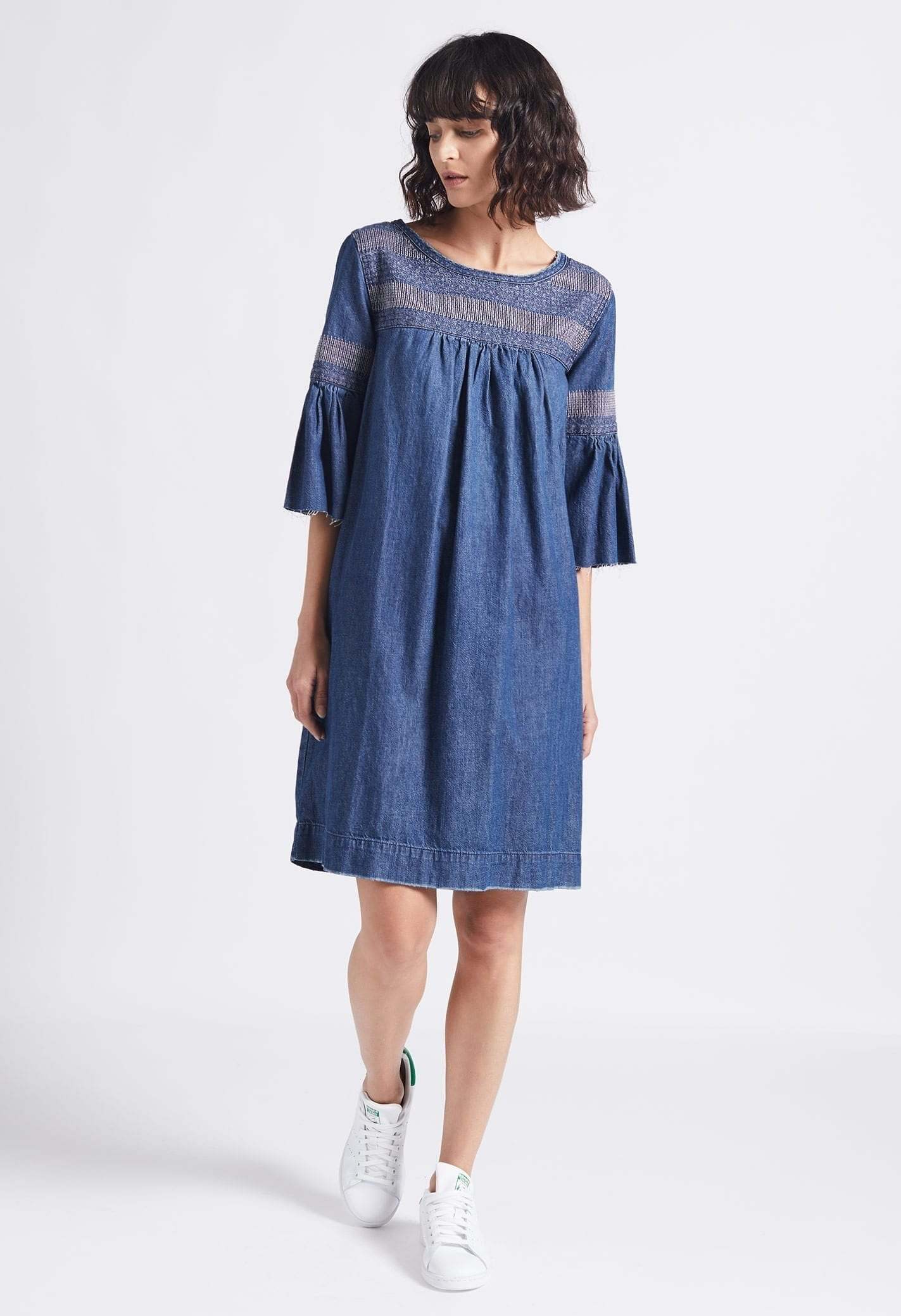 777b7b7f29 CURRENT ELLIOTT The Abigail Embroidery Navy Blue Dress - We Select ...