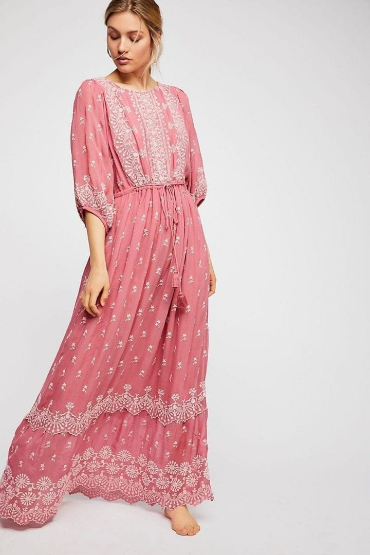 FREEPEOPLE Cecily Maxi Pink Dress