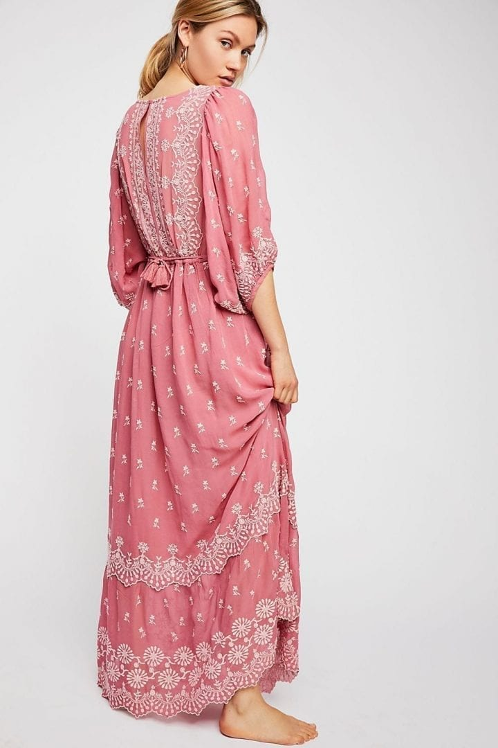 FREEPEOPLE Cecily Maxi Pink Dress - We Select Dresses