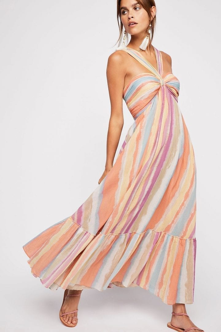 FREEPEOPLE Tropical Sunrise Maxi Faded Sunrise Dress - We Select Dresses