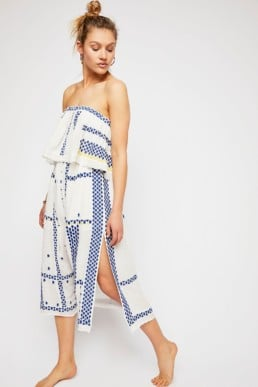 FREEPEOPLE Wild Romance Embroidered Ivory Combo Dress