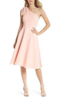 873ff51641b9 GAL MEETS GLAM COLLECTION Yvonne Dream Crepe One-Shoulder Rose Quartz Dress