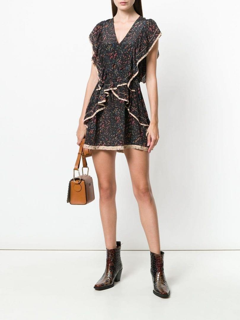 IRO Jicka Black / Printed Dress