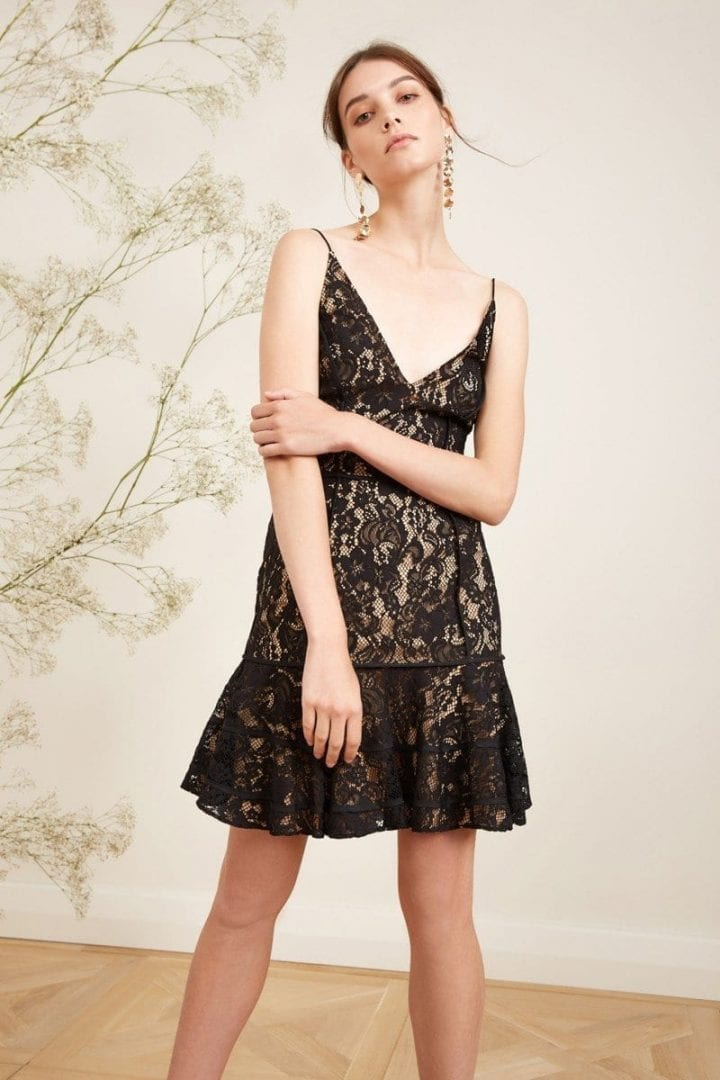 KEEPSAKE Dreamers Lace Black Dress