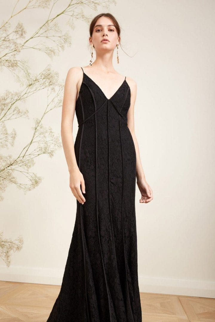 KEEPSAKE Dreamers Lace Black Gown