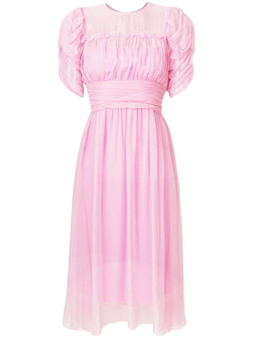 Nº21 Ruched Sleeve Pink Dress
