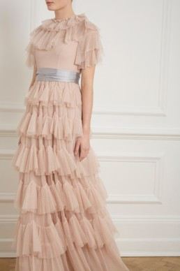 NEEDLE AND THREAD Scallop Tulle Pink / Grey Gown