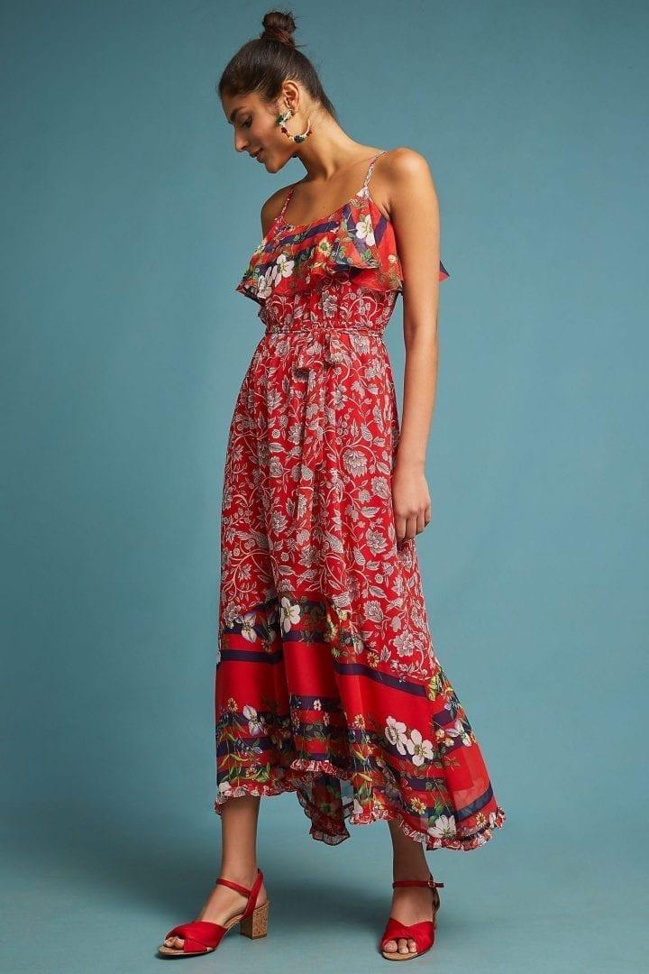ONE SEPTEMBER Zuri Maxi Red Dress