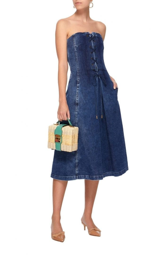 565a4f9a0ca RALPH LAUREN Esmee Denim Strapless Coastal Blue Dress - We Select ...