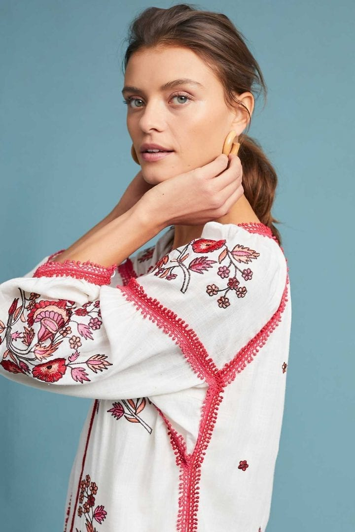 7b16d528e7ca RANNA GILL Hadley Embroidered Tunic Neutral White Dress - We Select ...