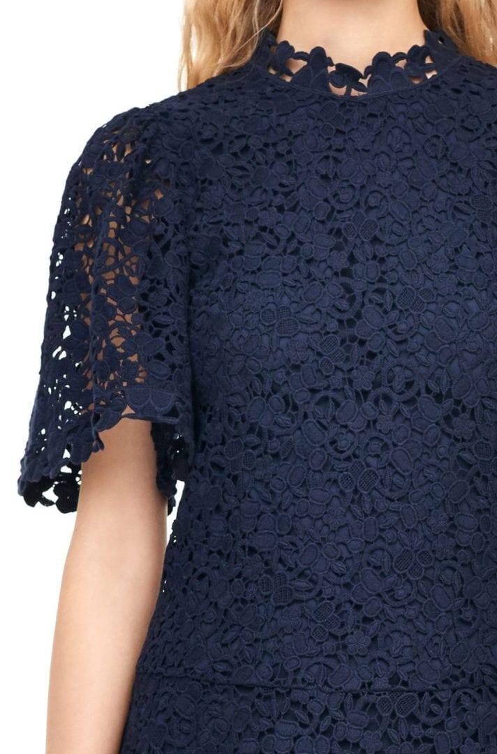 358edd8c5a53 REBECCA TAYLOR Floral Lace Navy Blue Dress - We Select Dresses