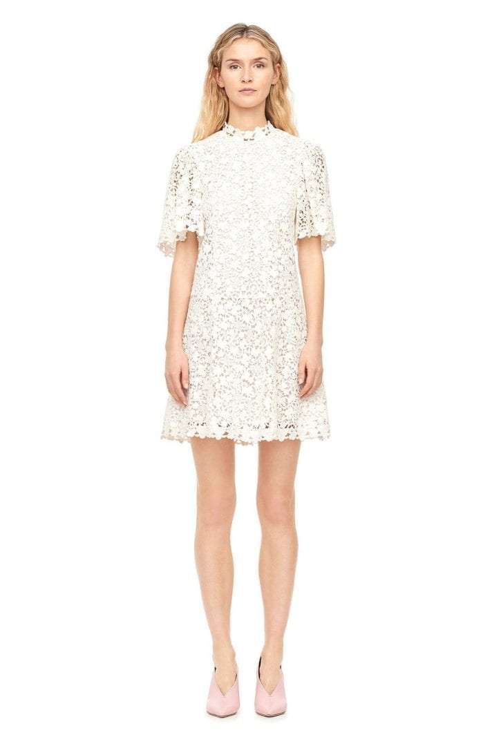REBECCATAYLOR Floral Lace Snow Dress