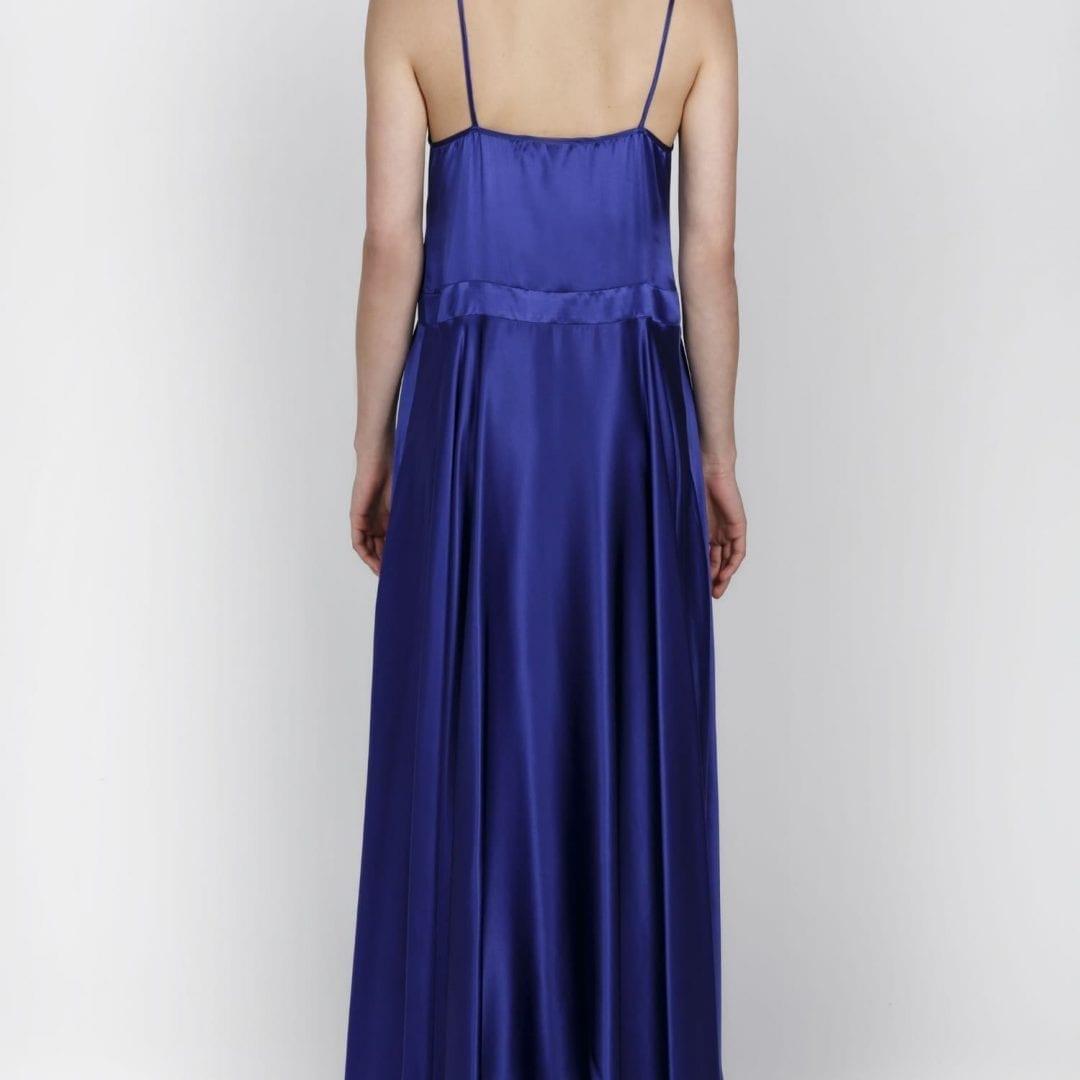 ROSES ARE RED Diane Silk Cobalt Blue Dress - We Select Dresses