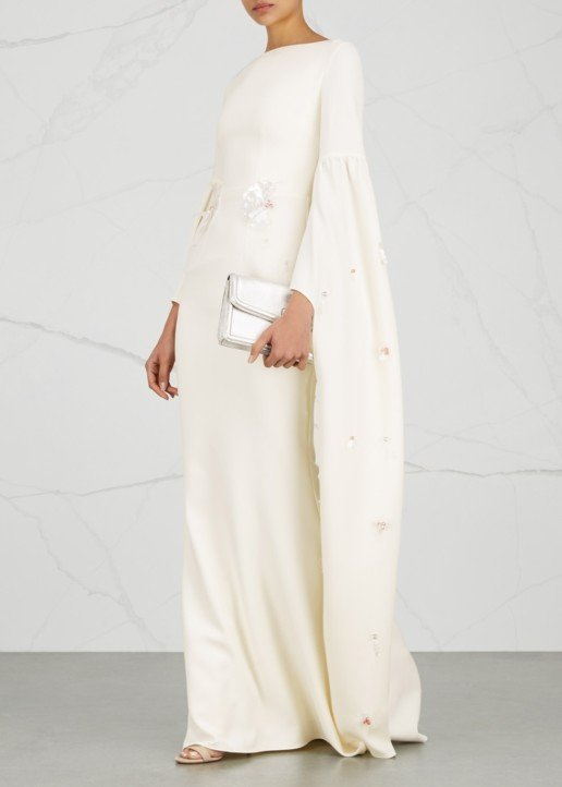 SAFIYAA Grand Embellished Ivory Gown