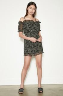 THE FIFTH Apricity Short Sleeve Black Freesia Dress