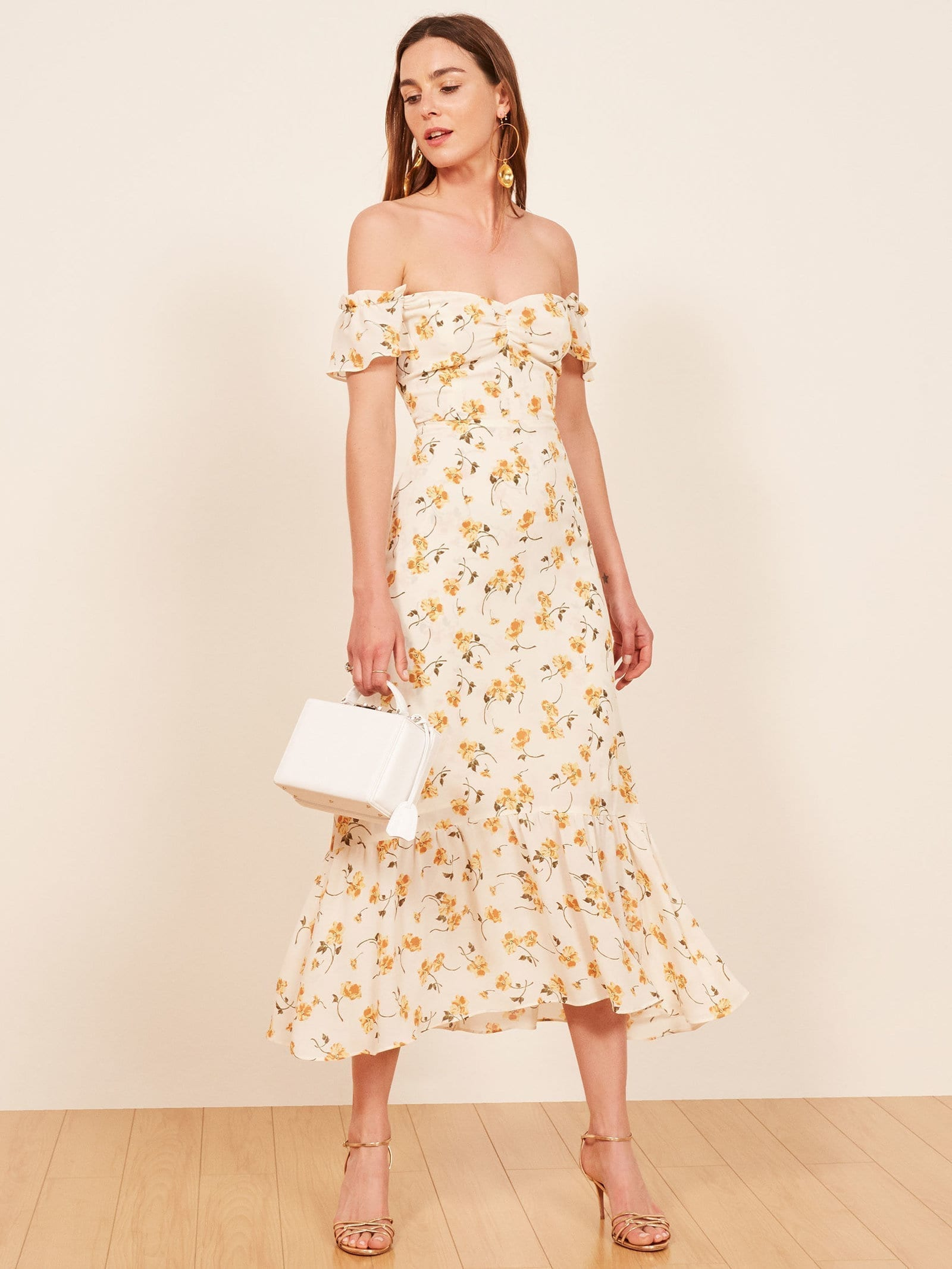 THEREFORMATION Butterfly Limonada Dress