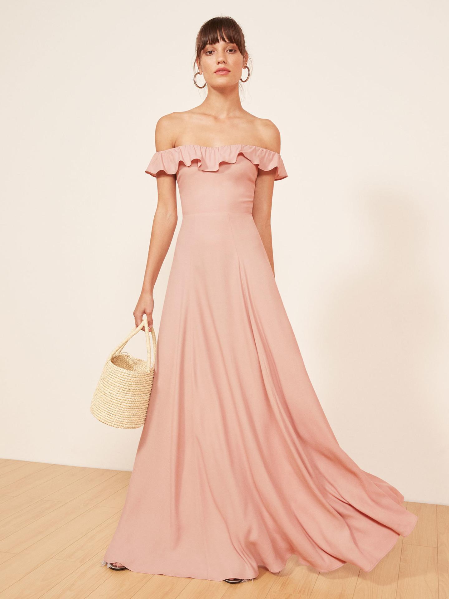THEREFORMATION Verbena Blush Dress