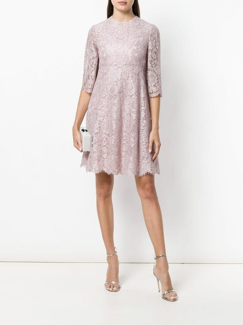 VALENTINO Heavy Lace Pink Dress