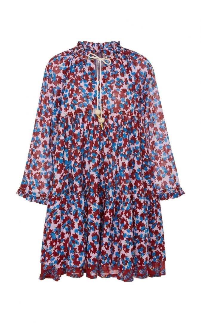 YVONNE S Cotton Voile Double Mini Hippy Multi / Printed Dress