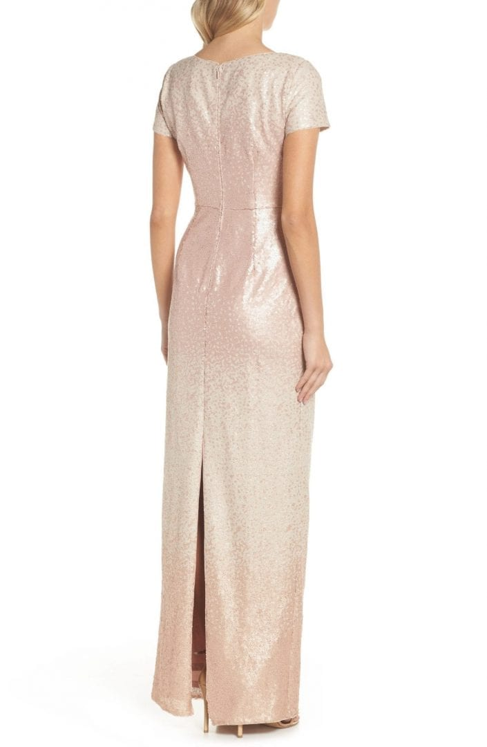 Adrianna Papell Ombré Sequin Blush Gown We Select Dresses